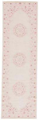 "Jaipur Living Malo Medallion Pink/White Area Rug, 2'6""x8'"
