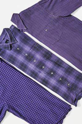 Urban Renewal Vintage Ultraviolet Flannel Shirt - purple S at Urban Outfitters