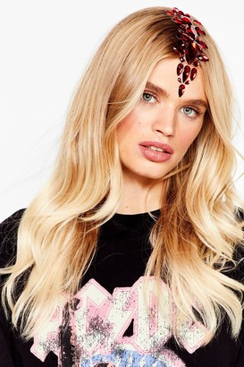 Nasty Gal Womens SHRINE Shine to Remember Hair and Face Jewels - Red