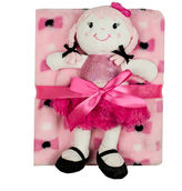 Cutie Pie Baby Cutie Pie 2-pc. Printed Velboa Blanket with Doll