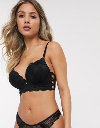 New Look strappy boost bra in black