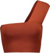 A.L.C. Georgia cropped one-shoulder stretch-knit top