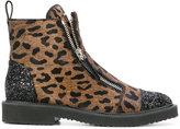 Giuseppe Zanotti Design Austin pony fur boots