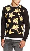Pokemon Men's Pikachu All Over Sweater Sweatshirt,X-Large