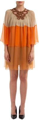 Alberta Ferretti Sheer Mini Dress