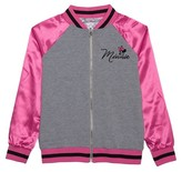 Minnie Mouse Girls' Minnie Mouse Bomber Jacket - Heather Grey
