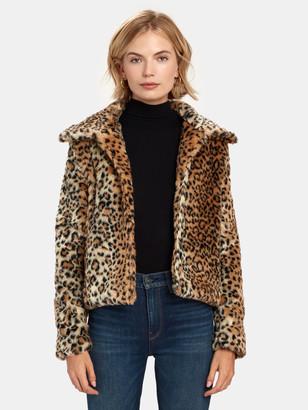 Finders Keepers Louvre Crop Faux Fur Jacket