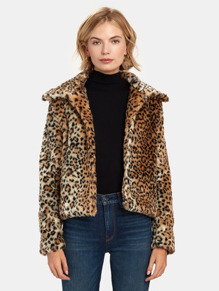 Finders Keepers Louvre Crop Faux Fur Jacket