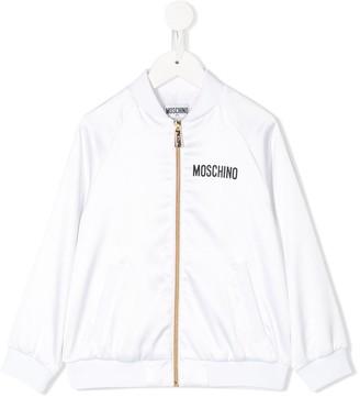 MOSCHINO BAMBINO Teddy Bear Print Bomber Jacket