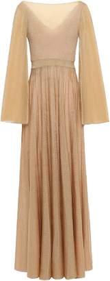 Missoni Pleated Metallic Knitted Maxi Dress