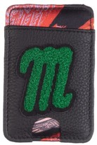 Laines London Customised Leather Card Holder Sticker - Black / Green
