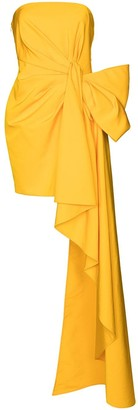 Carolina Herrera Bow-Detail Asymmetric Gown