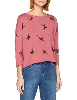Only Women's Onlirene Star 3/4 O-Neck SWT Jumper,10 (Size: Small)