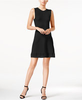 Armani Exchange Textured Knit Fit & Flare Dress