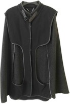 Designers Remix Grey Cotton Coat for Women