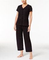 Charter Club Short Sleeve Top and Cropped Pant Pajama Set, Created for Macy's