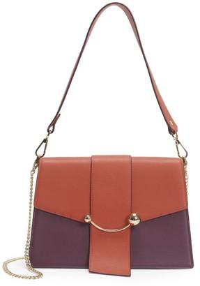 Strathberry Crescent Tri-Color Leather Shoulder Bag