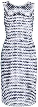 Oscar de la Renta Tweed Sheath Dress