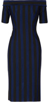 Dion Lee Off-The-Shoulder Striped Woven Dress