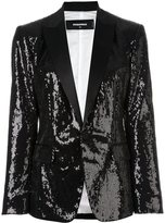 DSQUARED2 'London Peak' sequined blazer - women - Silk/Cotton/Polyester/Viscose - 40