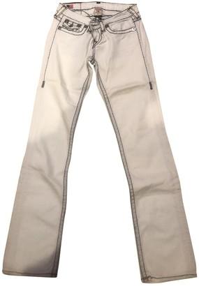 True Religion White Cotton - elasthane Jeans for Women