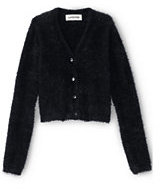 Classic Girls Cozy V-Neck Cardigan-Black