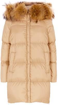 Max Mara Novella QuiltedFox-Fur Coat