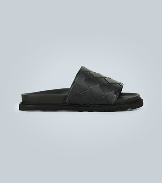 Bottega Veneta Intrecciato Speedster leather slides