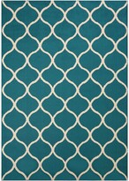 Thumbnail for your product : Snake River Décor Sheridan Fret Transitional Area Rug, Teal - 5' x 7'