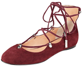 Sigerson Morrison Elias Leather Lace-Up Flat