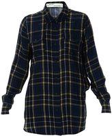 Off-White Blue Check Long Shirt