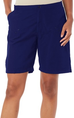 Maxine Of Hollywood Women's Solid Woven Long Boardshort