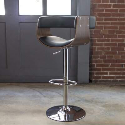 Awesome Amerihome Bent Wood Faux Leather Adjustable Height Swivel Bar Stool Amerihome Inzonedesignstudio Interior Chair Design Inzonedesignstudiocom