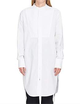 Bassike Cotton Bib Front Shirt Dress