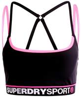 Superdry DASH Sports bra black/pop pink