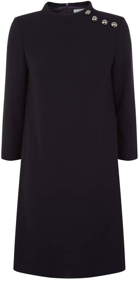 Goat Eloise Button Neck Tunic Dress