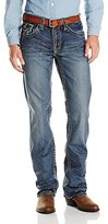 "Stetson Men's Rock Fit Curved ""X"" Stitched Flap Pocket Jeans - 11-004-1014-4011 Bu"