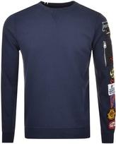 Replay Logo Sweatshirt Navy