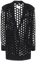 Maison Margiela Perforated crepe blazer