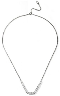 """Eliot Danori Silver-Plated Cubic Zirconia Statement Necklace, 16"""" + 2"""" extender, Created for Macy's"""