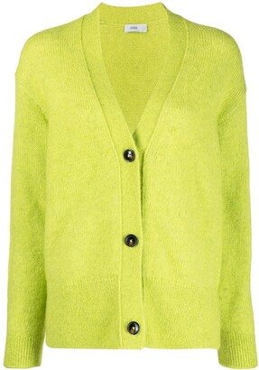 Closed Button-Up Knit Cardigan
