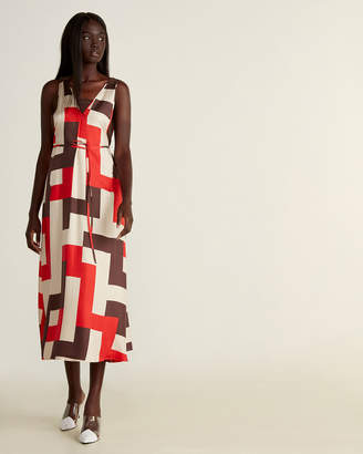 Alysi Geometric V-Neck Dress