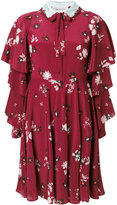 Valentino Crepe De Chine floral print dress - women - Silk/Polyester/Virgin Wool - 38