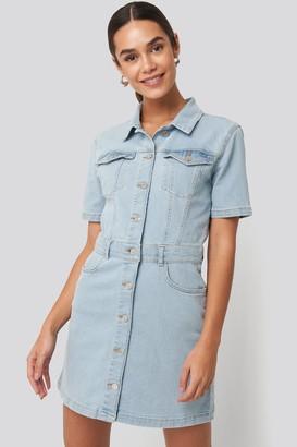 NA-KD Button Up Mini Denim Dress