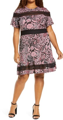 MICHAEL Michael Kors Paisley Mesh Mix Dress