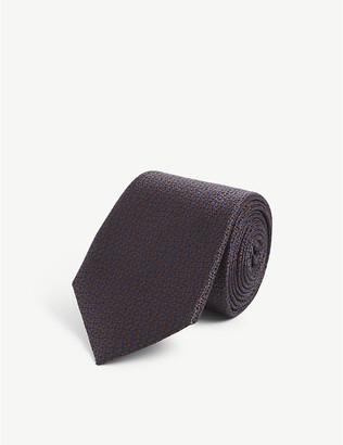 Canali Basketweave silk-jacquard tie