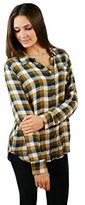 Lucky Brand Women's Bungalow Plaid Top