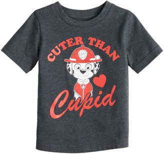 """Baby Boy Jumping Beans Paw Patrol Marshall """"Cuter Than Cupid"""" Graphic Tee"""