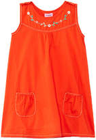 Sugar Girls' Orange Cotton Dress