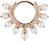 Maria Tash Single 6.5MM Rose Gold Pearl Coronet Ring